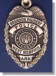 West Memphis Arkansas Police Badge Charms