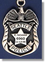 Seattle Washington Police Badge Charms