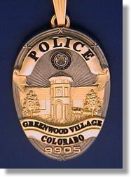 Greenwood Village Colorado Police Badge Charms