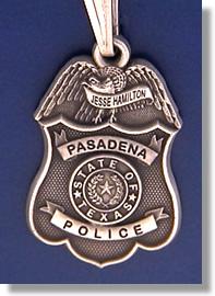 Pasadena Texas Police Badge Charms