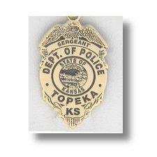 Topeka Kansas Police Badge Charms