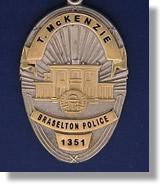 Braselton Police Georgia Police Badge Charms
