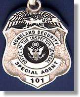 Us Dept Of Justice Inspector General Police Badge Rings