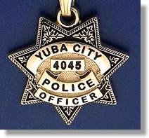 Yuba City California Police Badge Charms