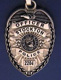 Stockton California Police Badge Charms