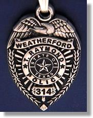 Weatherford Texas Police Badge Charms